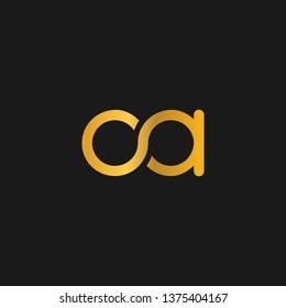 OA or O A letter alphabet logo design in vector format.