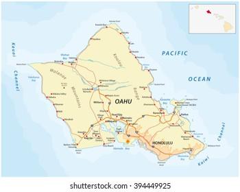 road map of oahu Oahu Map Images Stock Photos Vectors Shutterstock road map of oahu