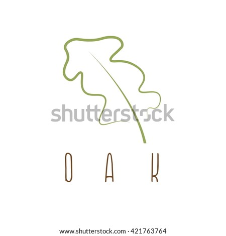 oak leaf abstract outline vector design stock vector royalty free