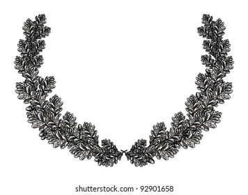 oak leaf wreath images stock photos vectors shutterstock