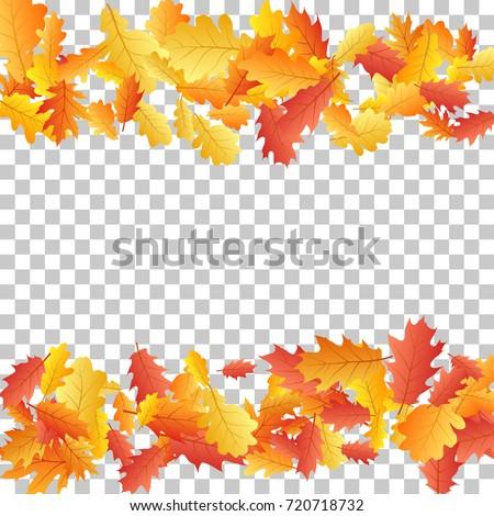 oak leaf border abstract background seasonal stock vector royalty