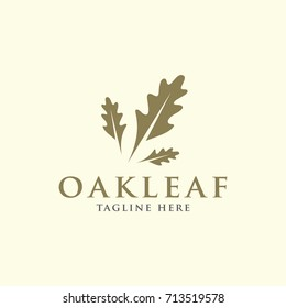 oak leaf design logo template