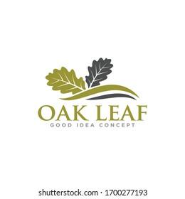 Oak Leaf Logo Design Vector