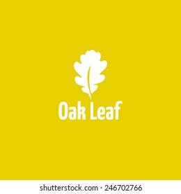 Oak leaf logo design vector template