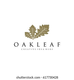 Oak Leaf Logo Template