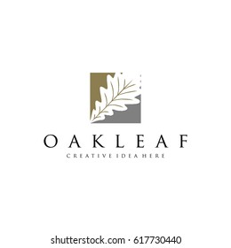Oak Leaf Logo Template