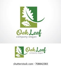 Oak Leaf Logo Template Design Vector, Emblem, Design Concept, Creative Symbol, Icon