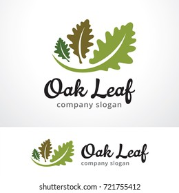 Oak Leaf Logo Template Design Vector, Emblem, Design Concept, Creative Symbol, Icon