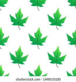 oak leaf seamless pattern vector illustration