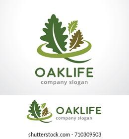 Oak Life Logo Template Design Vector, Emblem, Design Concept, Creative Symbol, Icon