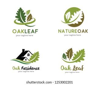 Oak Logo, Logo collection set, Concept design, Symbol, Icon