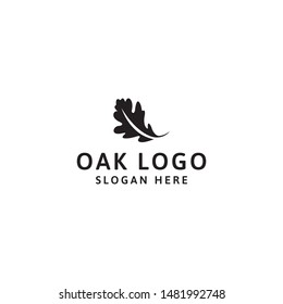 Oak logo design template, vector