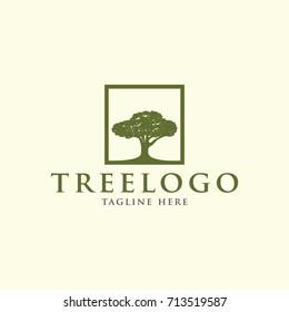 oak tree logo template stock vector royalty free 616584638