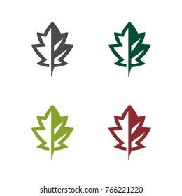 Oak tree, oak leaf logo icon design template illustration, designed based on vector format