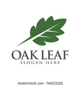 Oak tree, oak leaf logo icon design template illustration, designed based on vector format