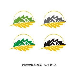 Oak Tree and Leaf Logo Template
