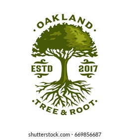 Oak Tree logo template