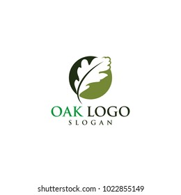 oak vector graphic abstract logo template download