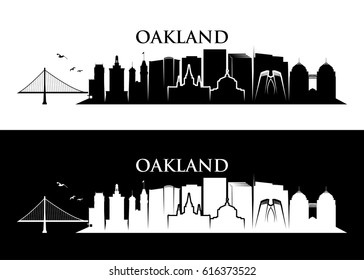 Oakland skyline - California - vector illustration