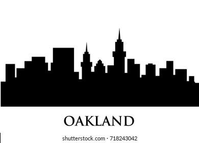 oakland skyline vector