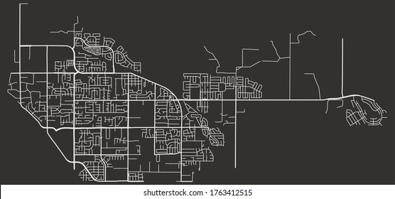 Oakley, California, United States–urban vector city map, road transport network, downtown and suburbs view poster