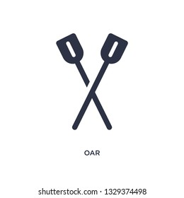 oar icon. Simple element illustration from camping concept. oar editable symbol design on white background. Can be use for web and mobile.