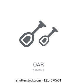Oar icon. Trendy Oar logo concept on white background from camping collection. Suitable for use on web apps, mobile apps and print media.