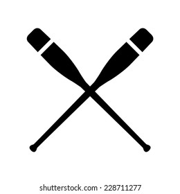 Oars crossed, vector illustration