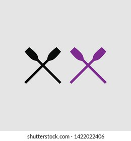 oars icon color and black