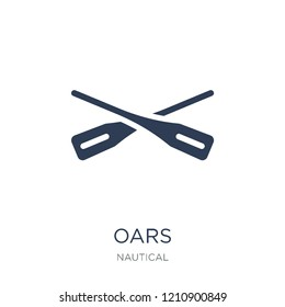 Oars icon. Trendy flat vector Oars icon on white background from Nautical collection, vector illustration can be use for web and mobile, eps10