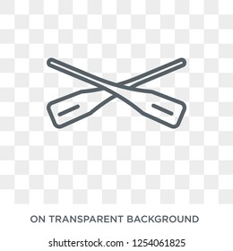 Oars icon. Trendy flat vector Oars icon on transparent background from Nautical collection. High quality filled Oars symbol use for web and mobile