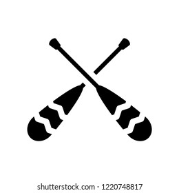 Oars icon. Trendy Oars logo concept on white background from Nautical collection. Suitable for use on web apps, mobile apps and print media.
