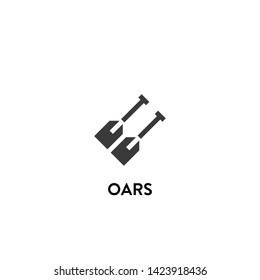 oars icon vector. oars vector graphic illustration