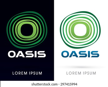 Oasis Font, typography graphic vector.