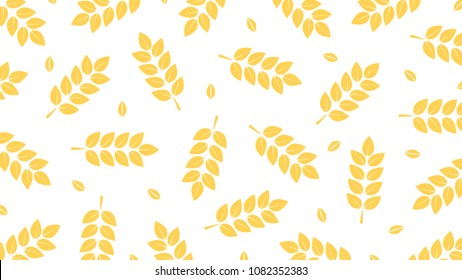 Oat pattern vector. free space for text. wallpaper. background.