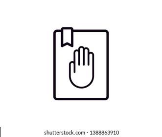 oath icon. donation icon. hand icon illustration eps10 - Vector