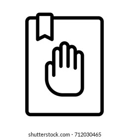 oath icon. donation icon. hand icon illustration eps10