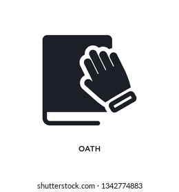 oath isolated icon. simple element illustration from political concept icons. oath editable logo sign symbol design on white background. can be use for web and mobile