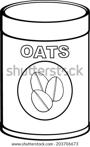 Oats Bottle Stock Vector Royalty Free 203706673