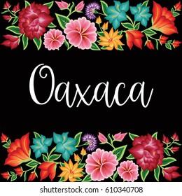 Oaxaca, México - Floral Composition