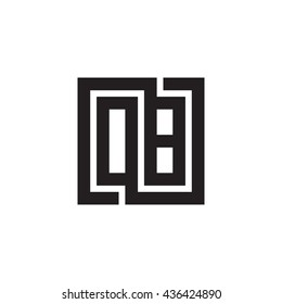 OB initial letters looping linked square monogram logo
