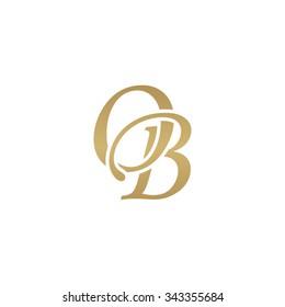 OB initial monogram logo