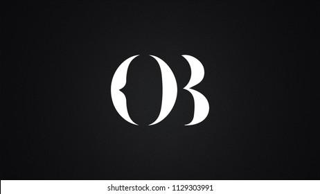OB Letter Logo Design Template Vector