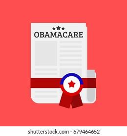 Obamacare bill vector illustration