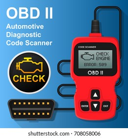 OBD2 OBD II CAN Bus Portable Car Automotive Automatic Diagnostic Error Code Scanner Tester Maintenance Repair Fix Engine Gear Transmission Problem
