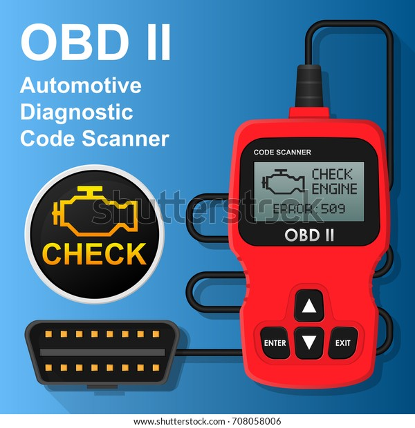 Obd2 Obd Ii Can Bus Portable Stock Vector (Royalty Free) 708058006