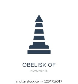 obelisk of buenos aires icon vector on white background, obelisk of buenos aires trendy filled icons from Monuments collection, obelisk of buenos aires vector illustration