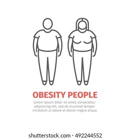 Obesity people. Man and women.