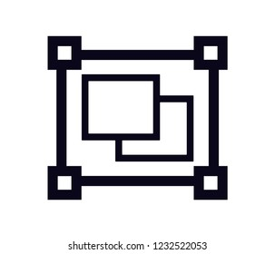 object group  icon vector