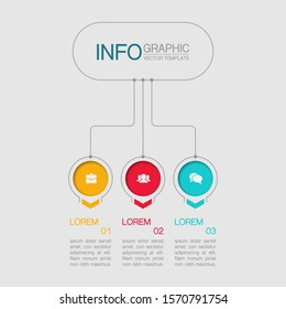[object Object]Vector infographic diagram, template for business, presentations, web design, 3 options.